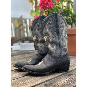 El General stingray leather cowboy boots